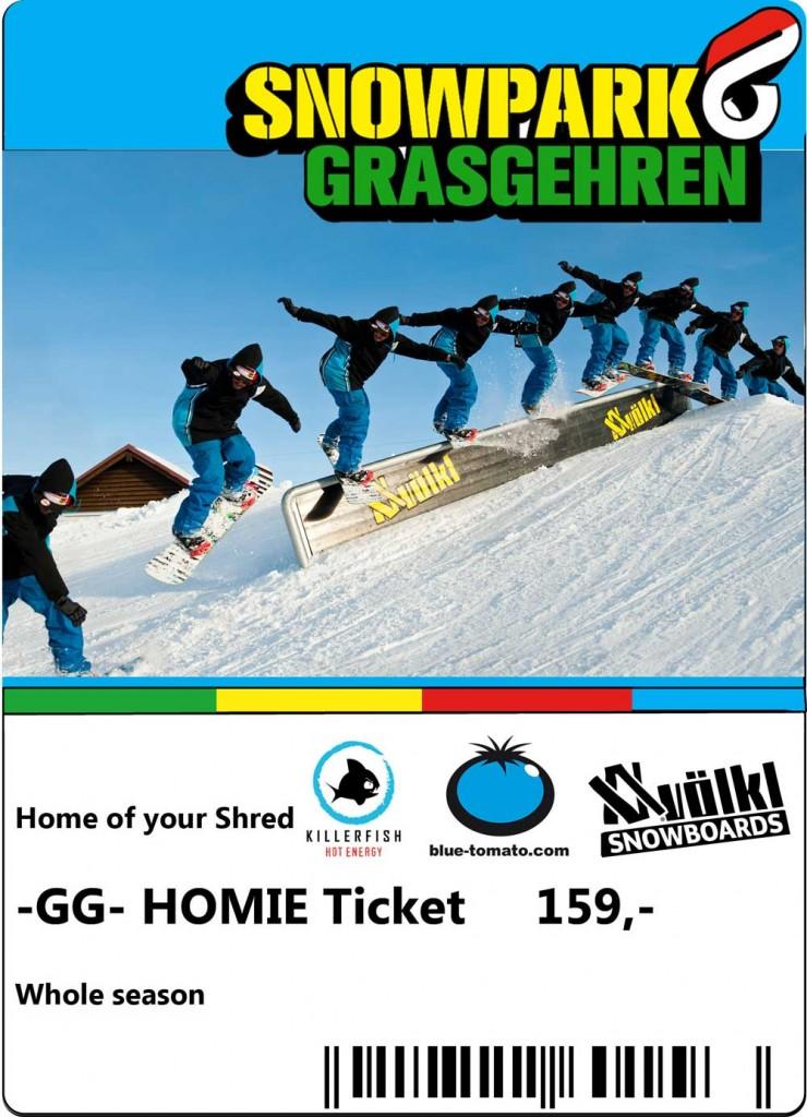 Homie Ticket Grasgehren