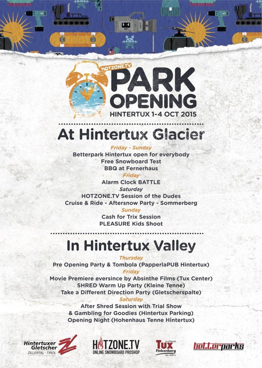 Park Opening Hintertux - Übersicht