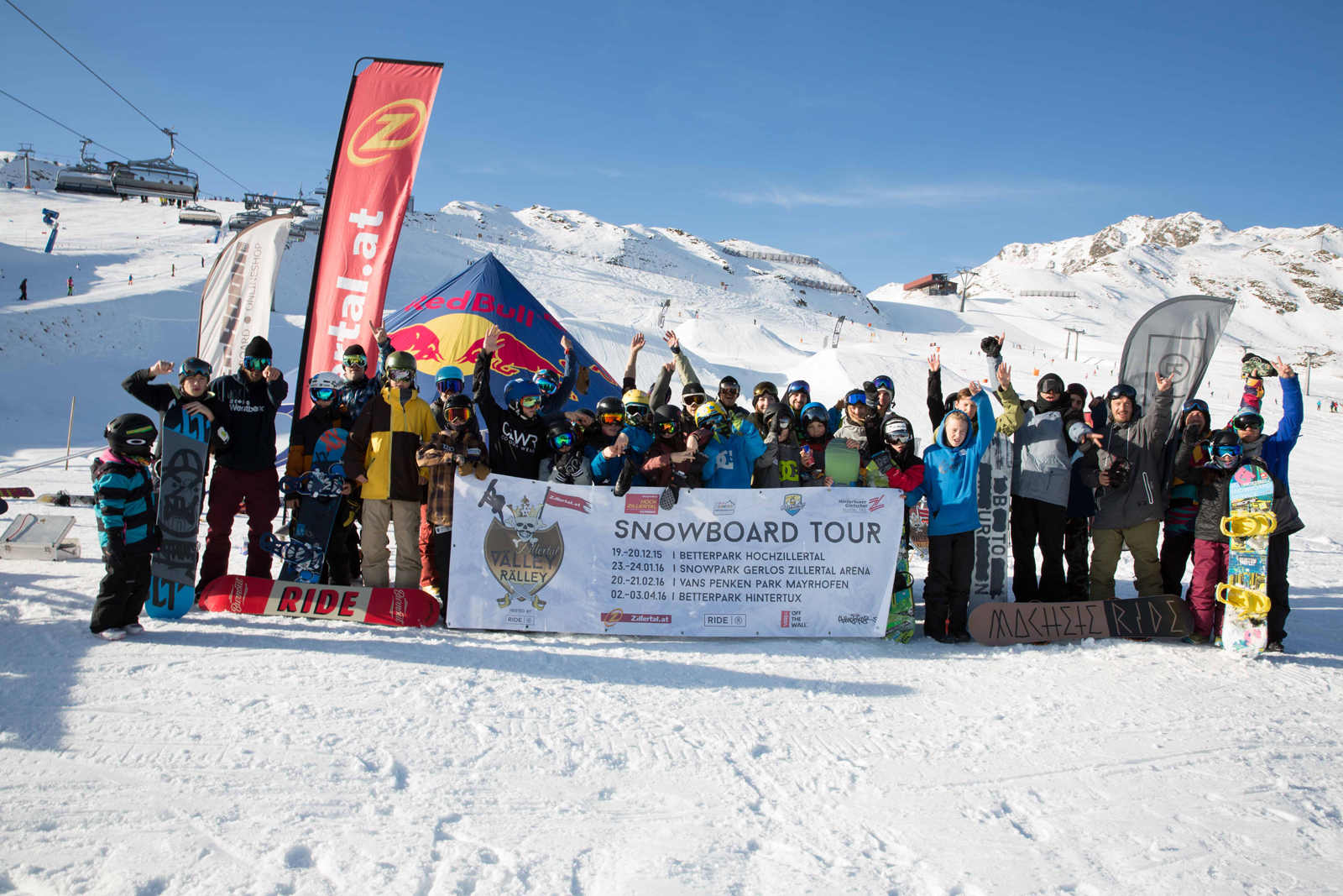 Zillertal VÄLLEY RÄLLEY hosted by Ride Snowboards 2015 / 2016