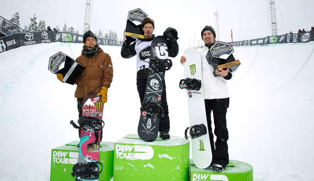 DEW Tour 2015 - Men Superpipe Podium