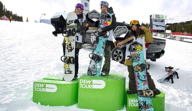 DEW Tour 2015 - Women Slopestyle Podium