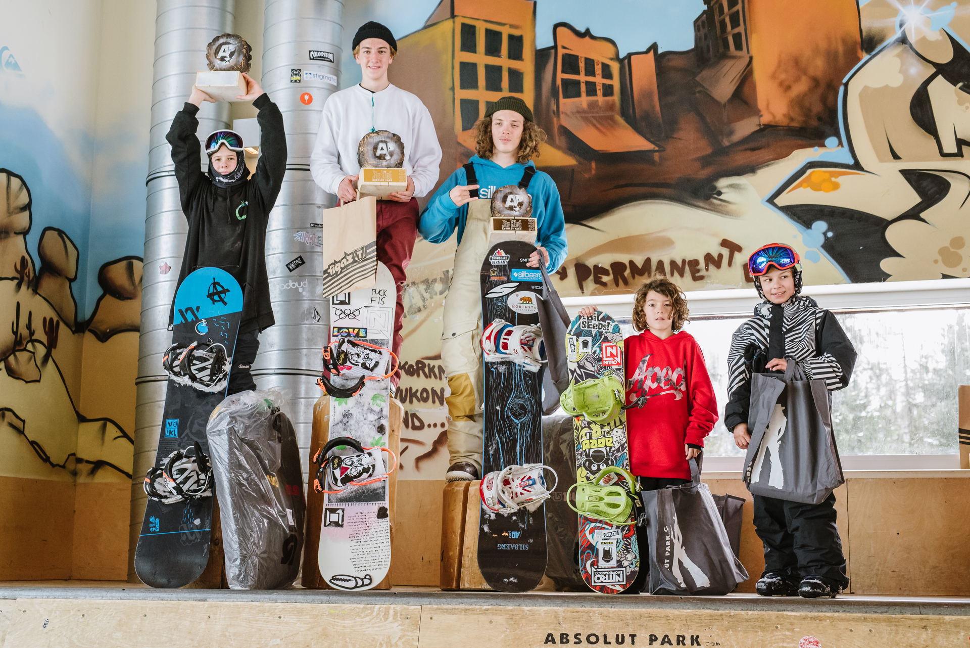 Jib King 2016 - Podium U15 - Foto: Absolut Park