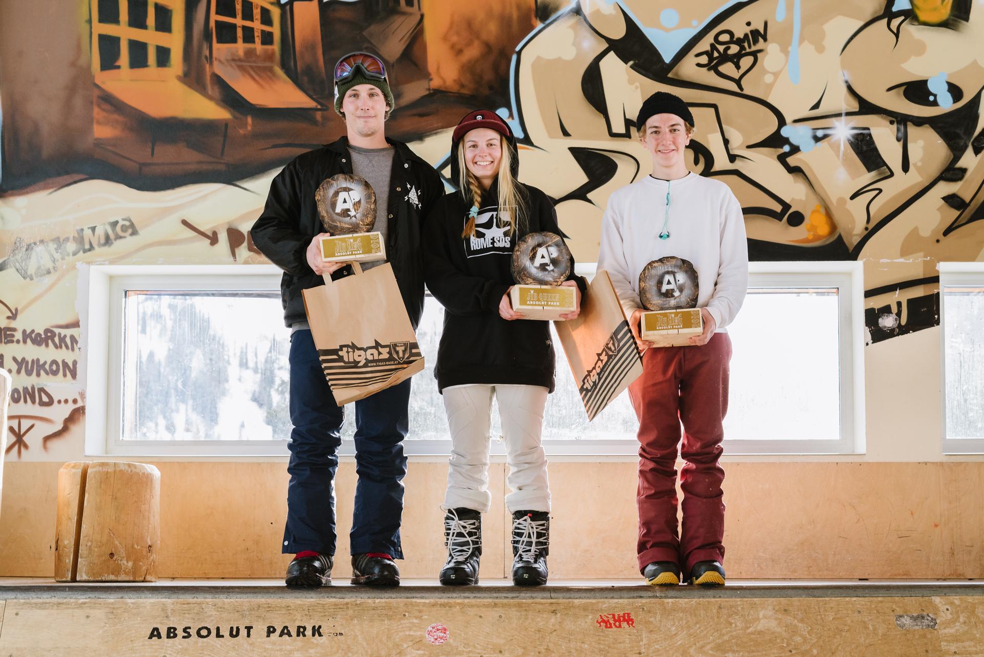 Jib King 2016 - Die Drei Gewinner - Foto: Absolut Park