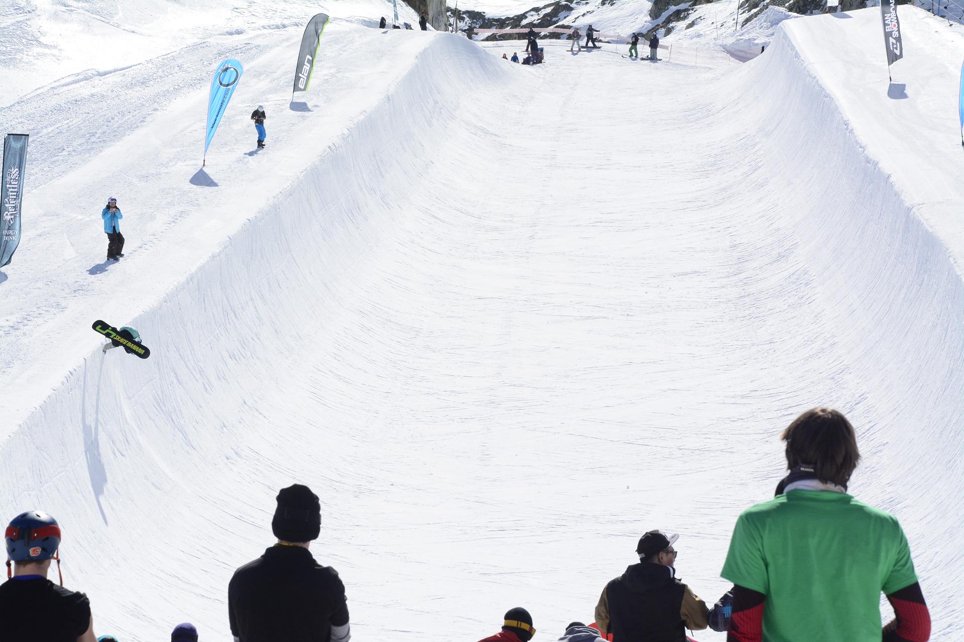 halfpipe in Les Deux Alpes - UniChamp 2016