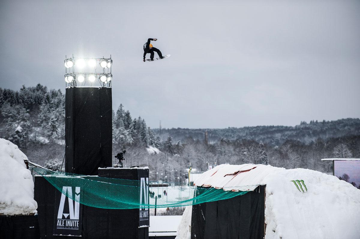 Kevin beim Ale Invite –einem Big Air, den er mit Tor Lundström ins Leben gerufen hat