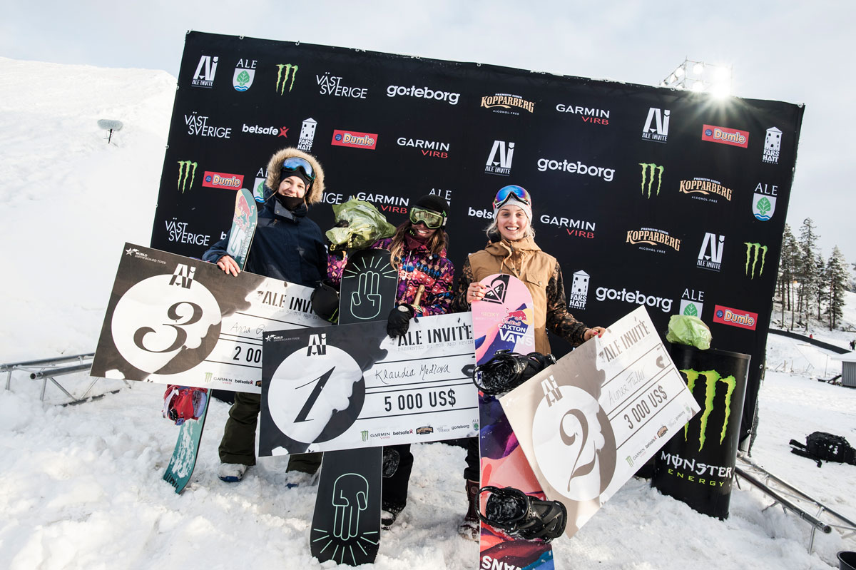 von links: Anna Gyarmati, Klaudia Medlova, Aimee Fuller © Monster Energy