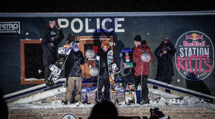 Kevin Trammer ist King of the Hood! - Red Bull Station RIots im Snowpark Nesselwang - Foto: Marcel Laemmerhirt