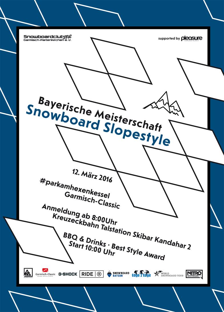 Bayerische Slopestyle Meisterschaften 2016 Prime Snowboarding