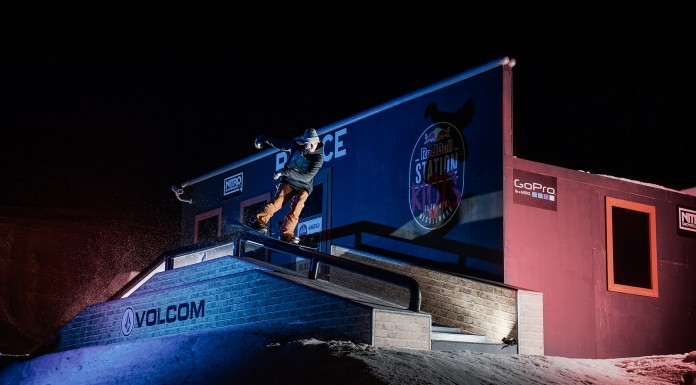 Snowboarding Unchained // RB Station Riots – Snowpark Nesselwang - Rider: Marvin Salmina - Foto: Marcel Lämmerhirt / Red Bull Content Pool