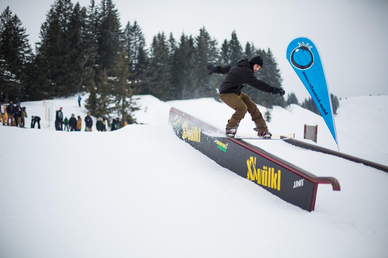 Railaction bei der 19. Ausgabe der Beers 'N' Burger Sessions im Snowpark Grasgehren