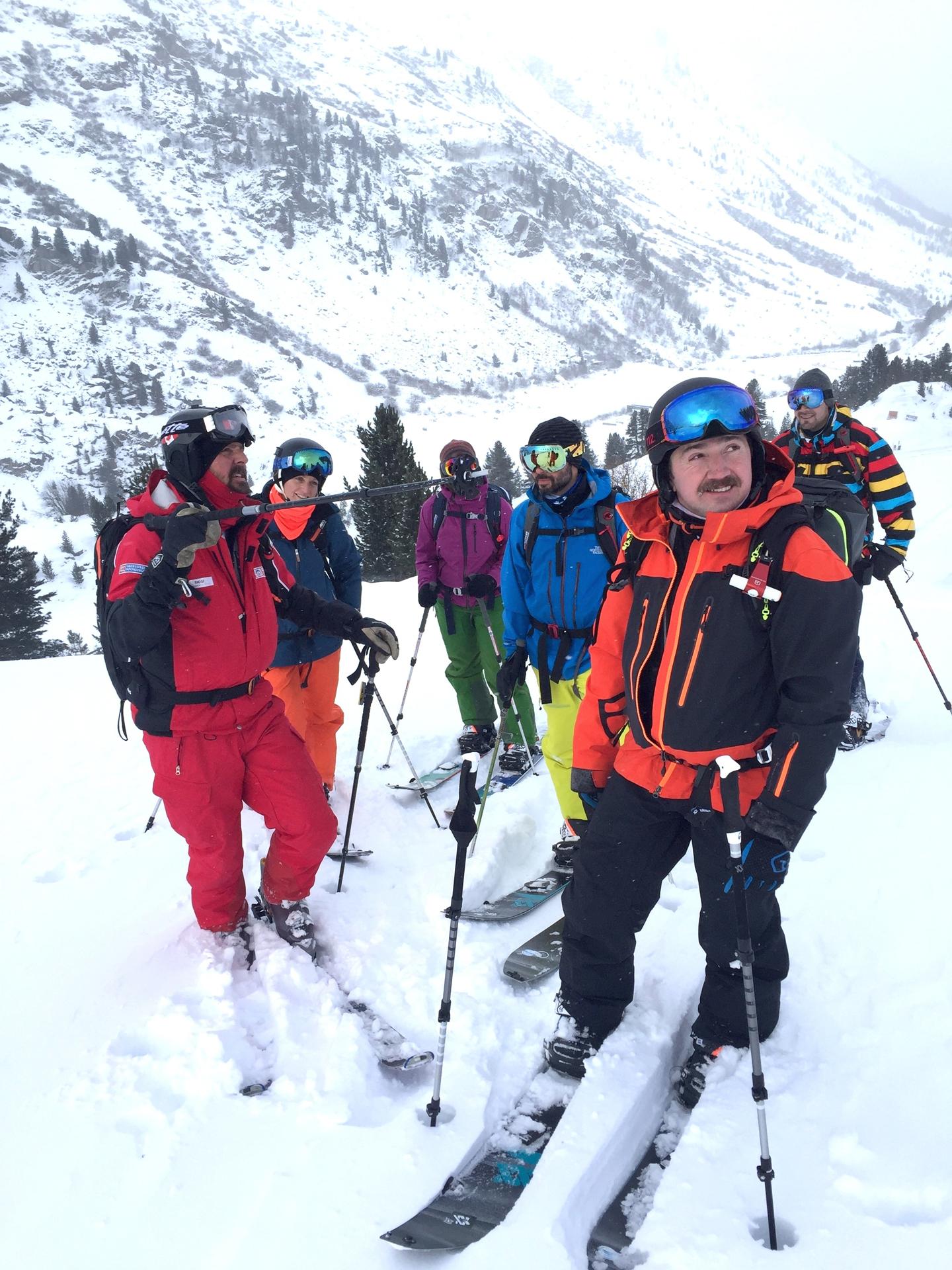 Der Bergführer von der Skischule Obergurgl Ötztal führte die Teilnehmer sicher durchs Gelände