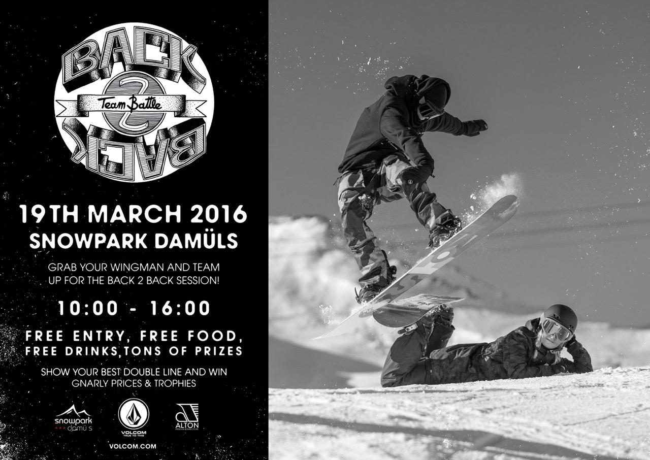 Volcom Back 2 Back Team Battle - Snowpark Damüls