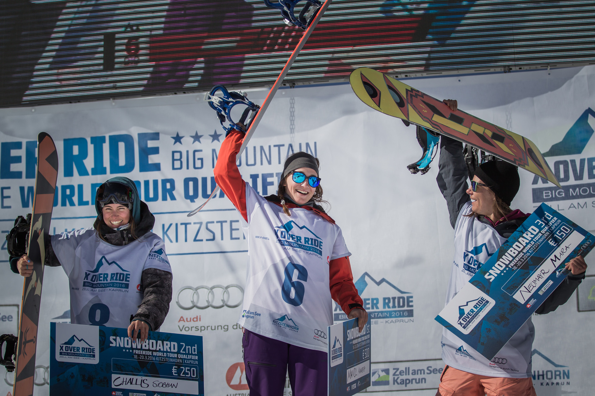 Das Podium der Ladies: Mara Neumayr, Manuela Mandl und Siobhan Challis - Foto: Mia Maria Knoll