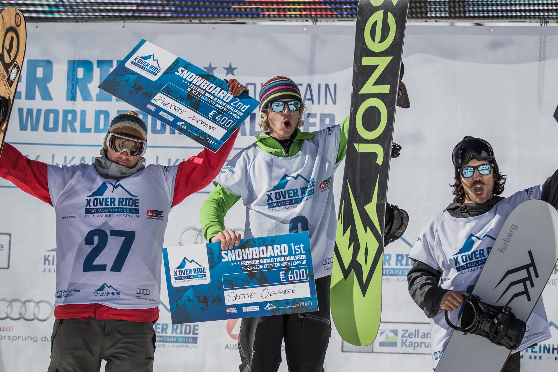 Die drei Gewinner bei den Männern: Andreas Zweibrot, Ole-André Skotte und Victor Heim - Foto: Mia Maria Knoll