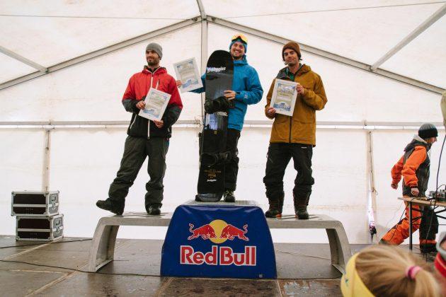Podium Noschool Men: Werner Blacky Schwarz, Philippe Nissl und Adam Pauli