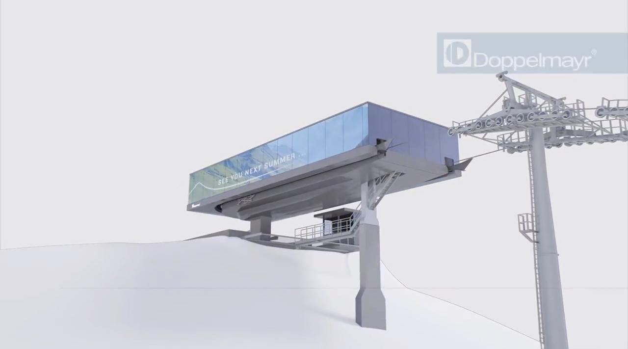 So könnte die neue Bergstation vielleicht schon bald aussehen | © Doppelmayr