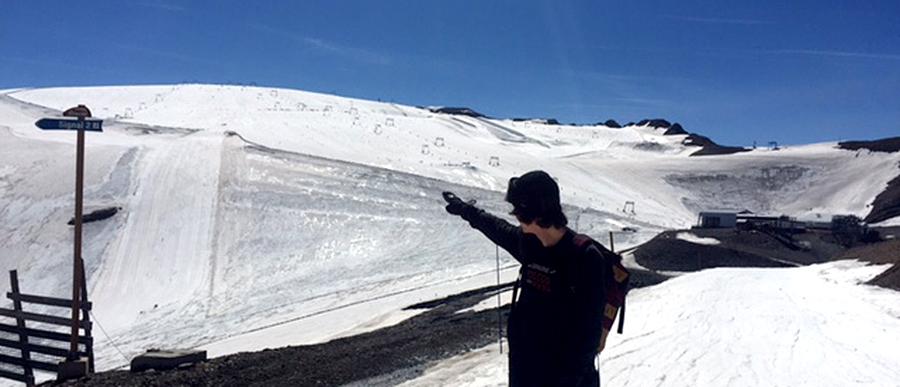 Levi kennt sich in Les Deux Alpes aus und weiß um jeden guten Spot