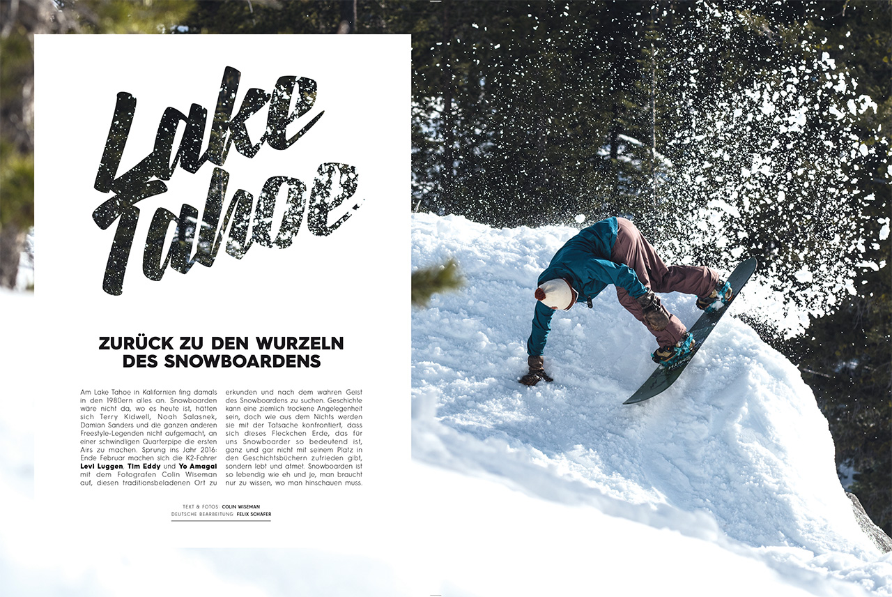 Levi Luggen, Tim Eddy und Yo Amagai sind mit Fotograf Colin Wiseman an diesen legendären Ort des Snowboardens gereist
