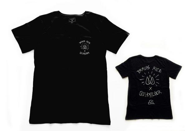 T-Shirt mit Detail auf Brust und fettem Backprint (gibt's auch in weiß)