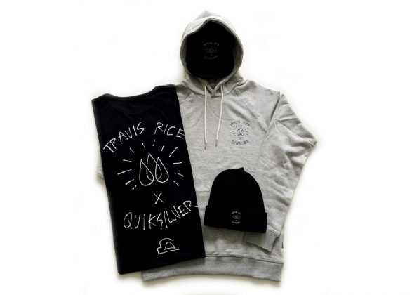 Apparel-Set aus der Travis x Quiksilver-Kollektion