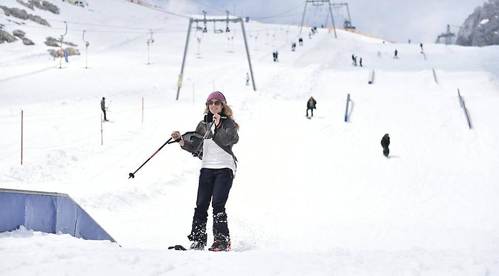Ein Snowboard passt trotzdem besser zu dir, Anna!