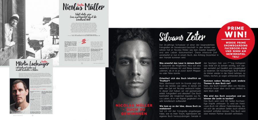 """Zusätzlich zu """"Fruition"""" wird es ein Buch von Silvano Zeiter über Nico geben, das interessante Einblicke in die Welt des Laaxer Locals und Über-Snowboarders gibt"""