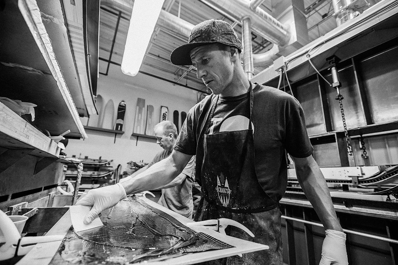 Terje Haakosen nutzt die Möglichkeiten der Burton-Brettschmiede in Vermont