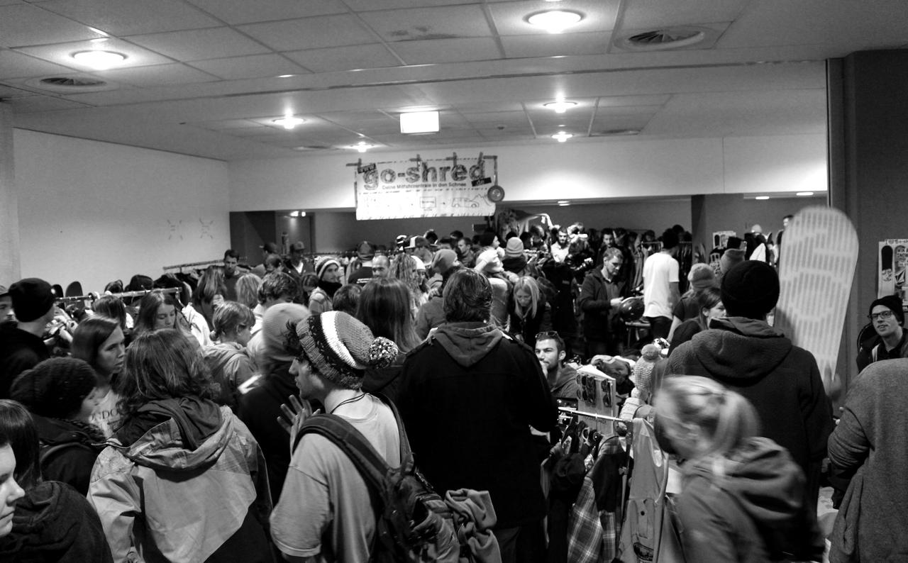 Auch am kommenden Sonntag wird beim go-shred Flohmarkt wieder einiges los sein. Also rechtzeitig kommen!