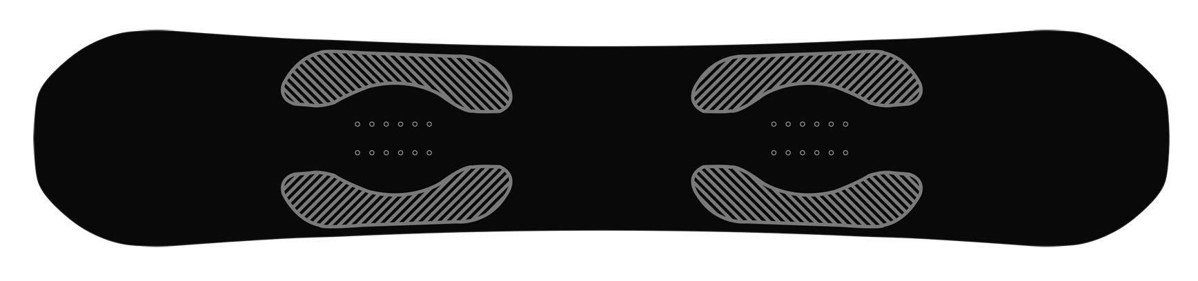 Der Bereich unter den Bindungen ist immensem Druck ausgesetzt. Rome hat unter die Ecken der Bindungsbereiche Basalt-Platten zur Verstärkung eingefügt, um die Kompression, die durch die Bindungen verursacht wird, zu verringern.