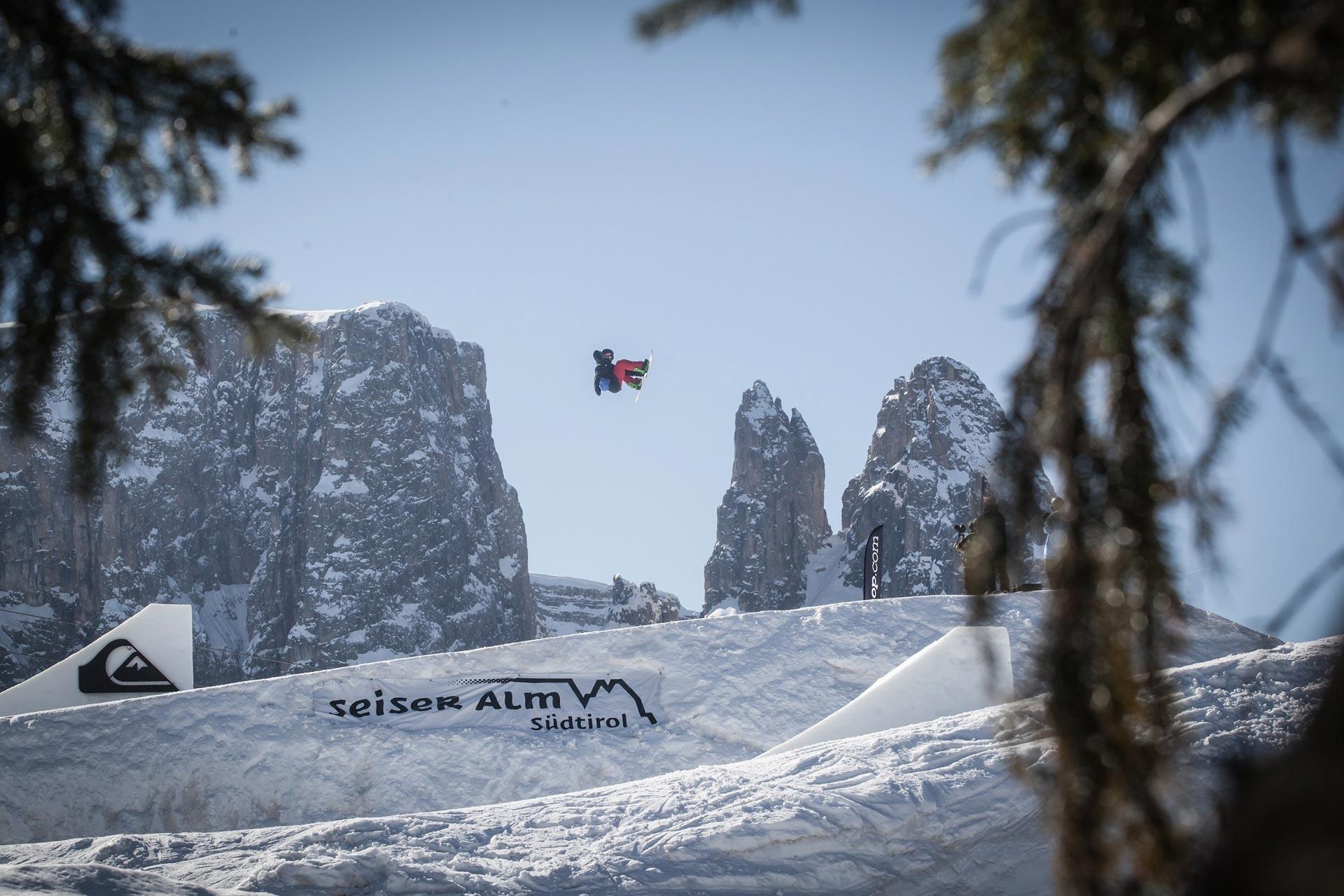 Es geht wieder heiß her im Snowpark auf der Seiser Alm in der Saison 15/16! - Foto: Seiser Alm / F-Tech