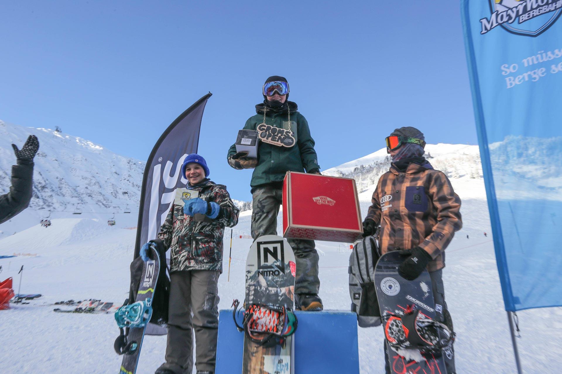 Top 3 Supergroms: Paul Frischhut, Niklas Huber, Mark Schrott (v.l.n.r.)
