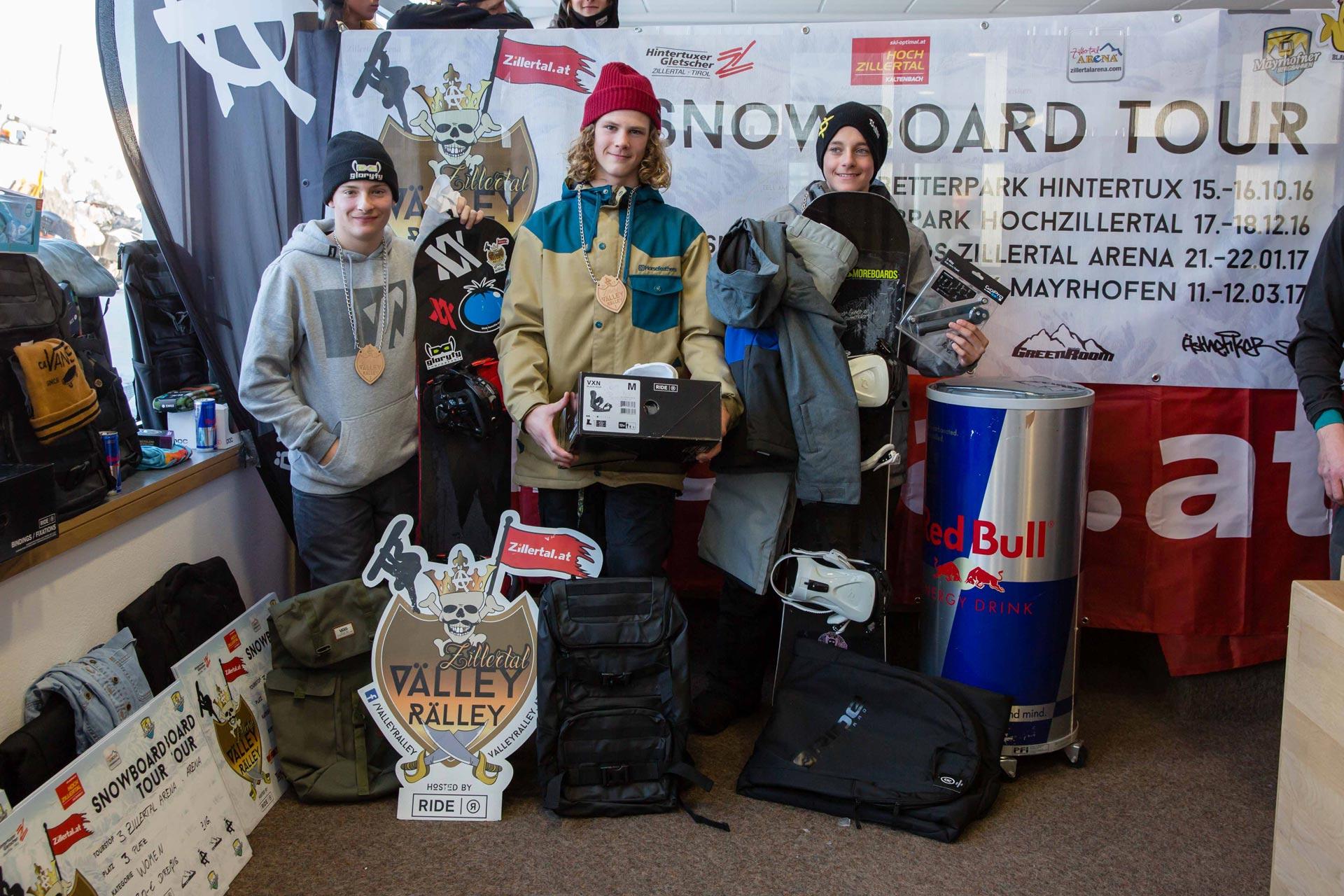 Top 3 Grom Boys: Nico Winkler, Baldur Vilhelmsson, Till Strohmeyer