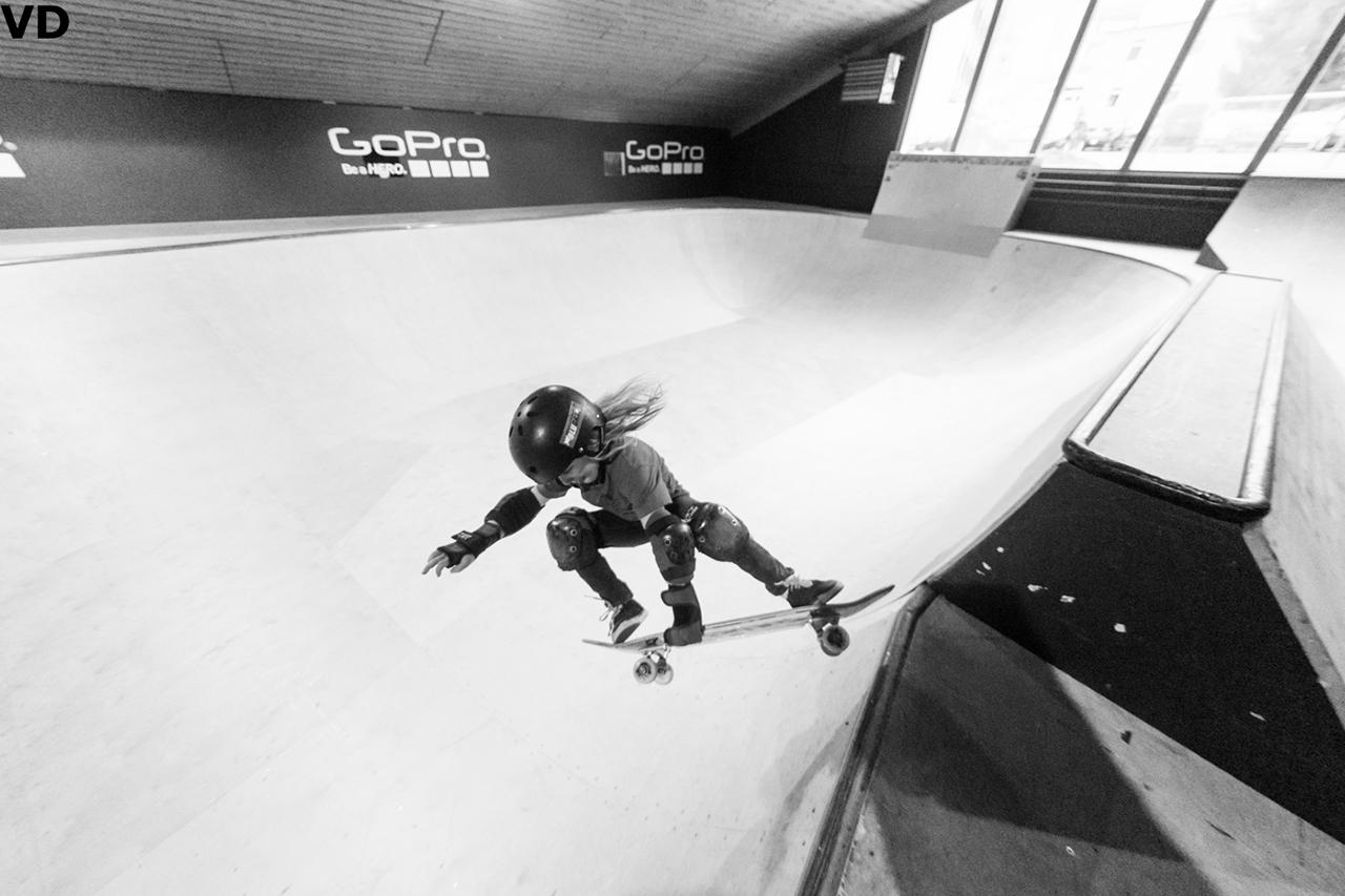 Der 6-jährige Nico aus Madonna de Campiglio verbringt sein junges Leben ausschließlich auf dem Brett. Ob Skate-, Surf- oder Snowboard spielt dabei keine Rolle   © Vernon Deck