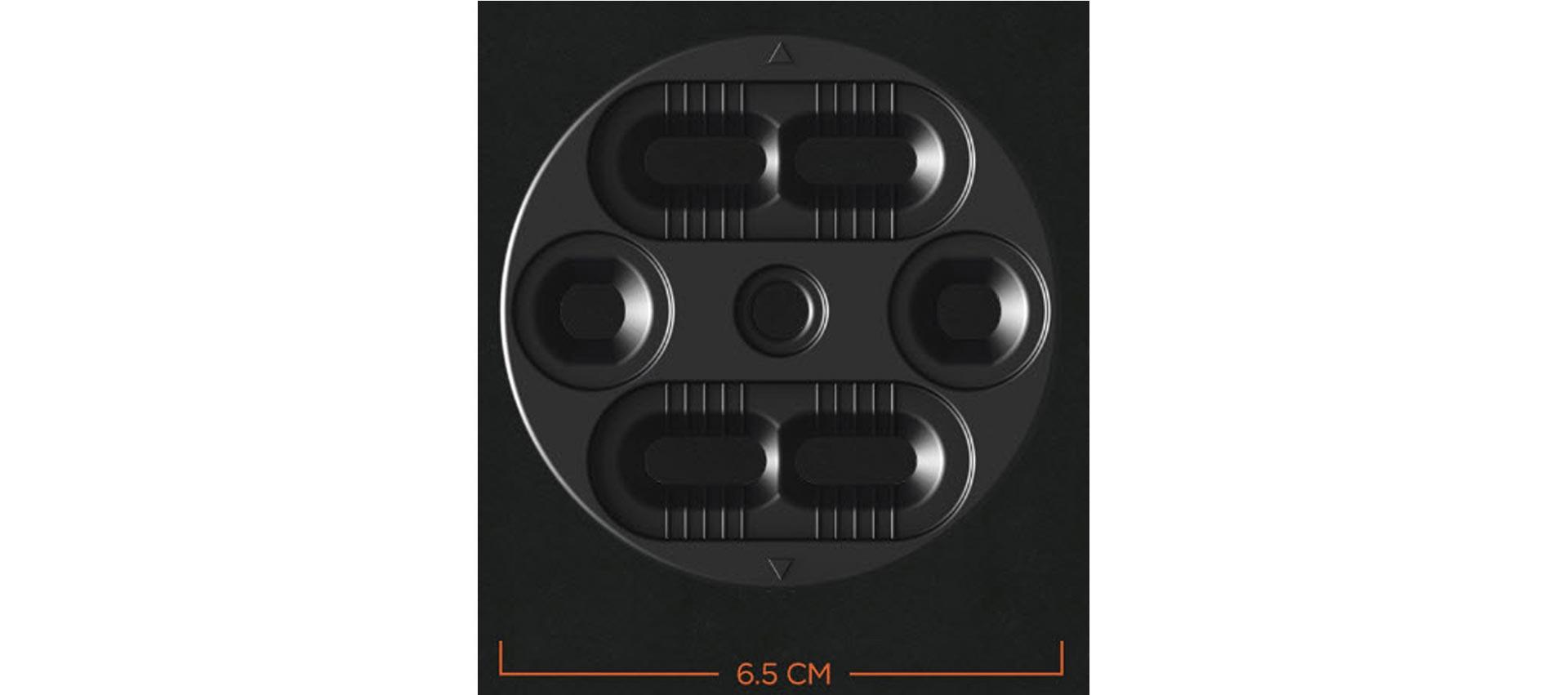 Die Mini Disk Base verstärkt den natürlichen Flex des Boards und unterstützt somit deutlich die Performance und Langlebigkeit des gesamten Setups.