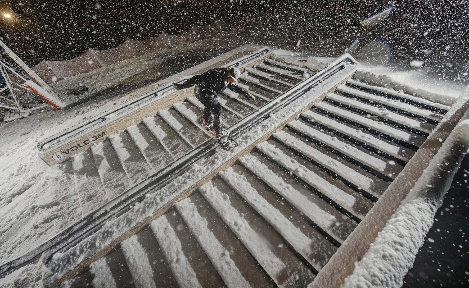 Im letzten Jahr hatten die Rider am Abend mit heftigem Schneefall zu kämpfen und lieferten trotzdem eine richtig fette Show ab!