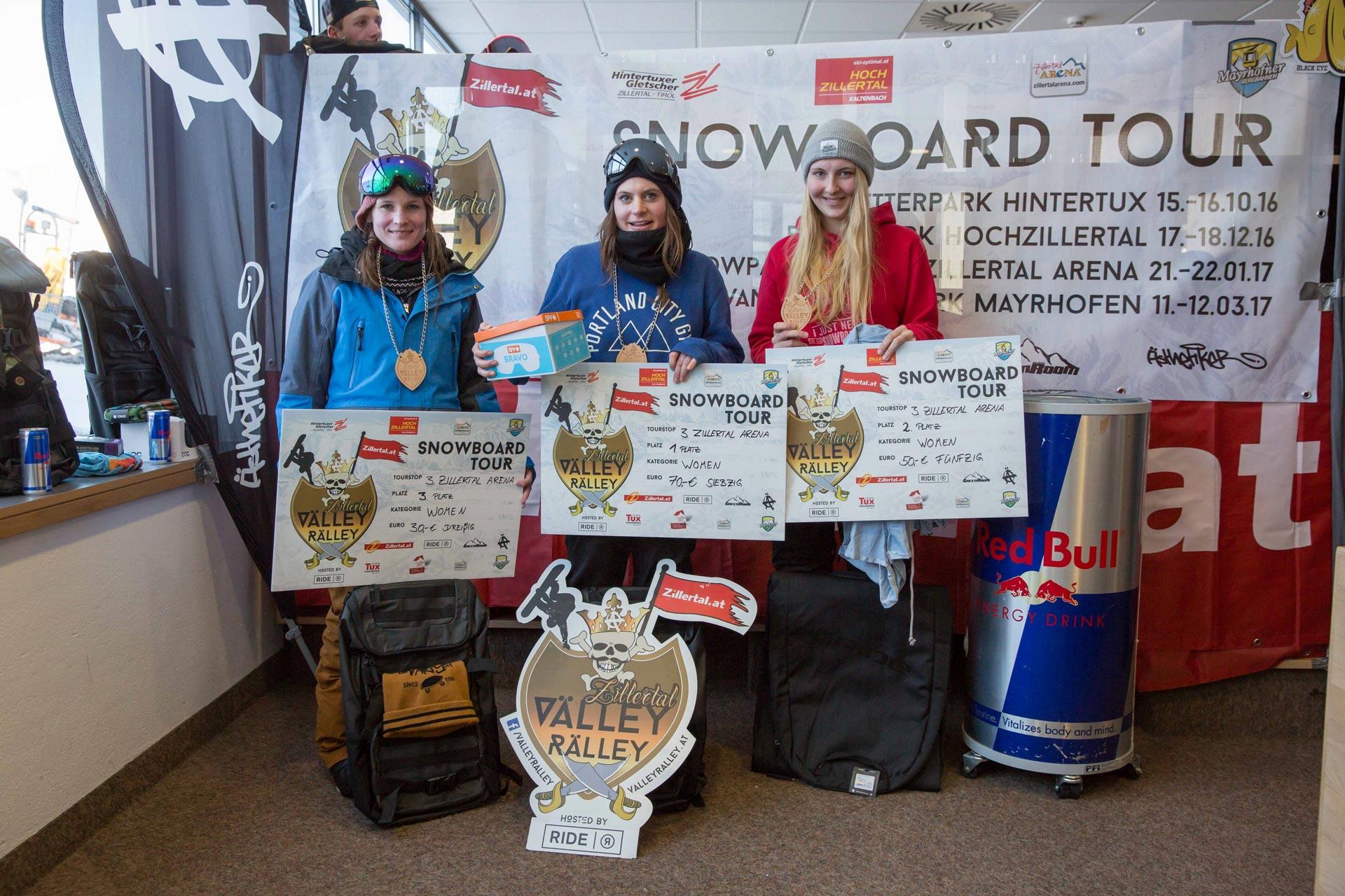 Top 3 Women: Katharina Kasper, Djoelie Ectors, Tereza Sebkova