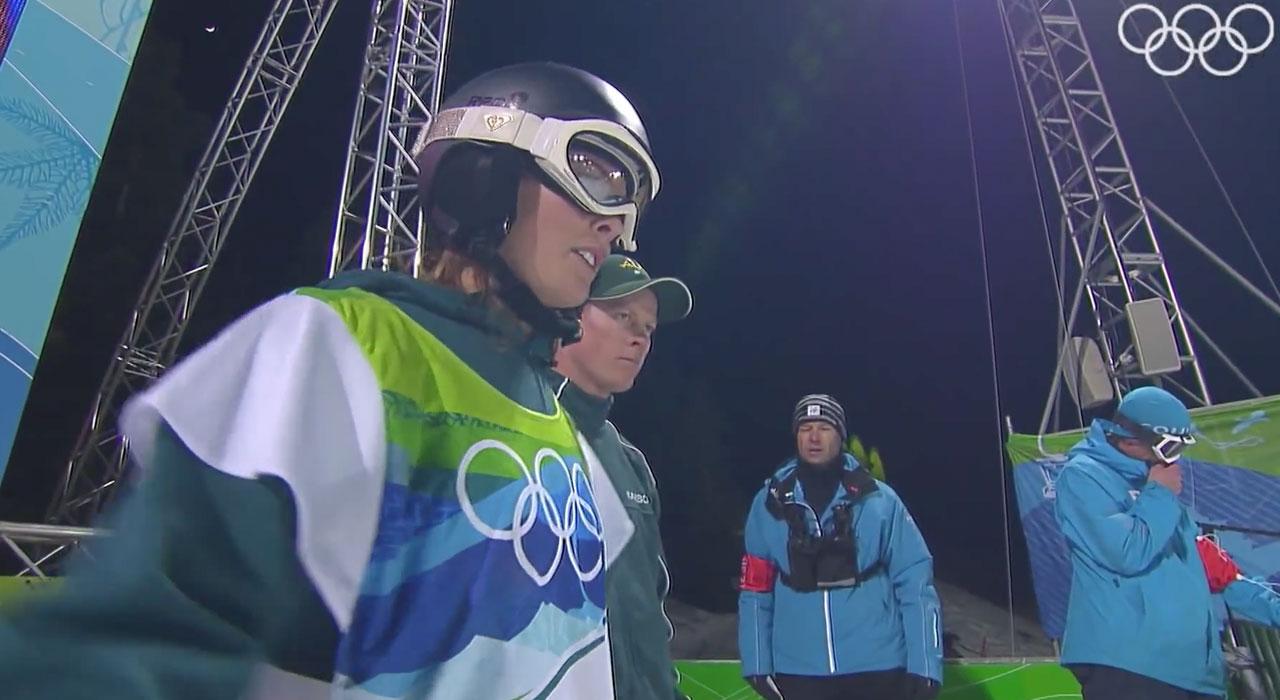 Wenige Sekunden später war sie schon Olympia-Siegerin: Torah Bright