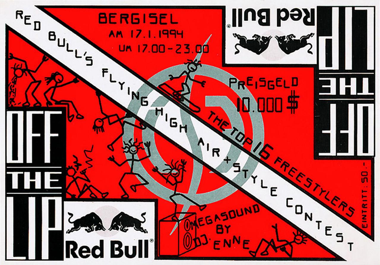 Das Plakat zum ersten Air + Style in Innsbruck vor mehr als 20 Jahren | © Air + Style