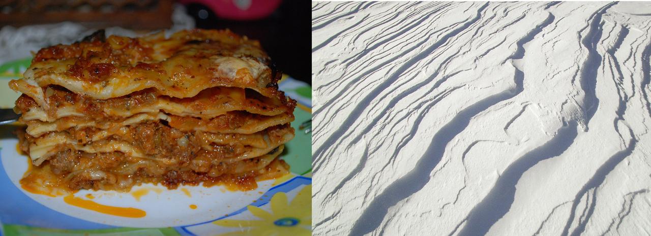 Eine Schneedecke ist - wie eine Lasagne - in mehrere, unterschiedliche Schichten aufgeteilt