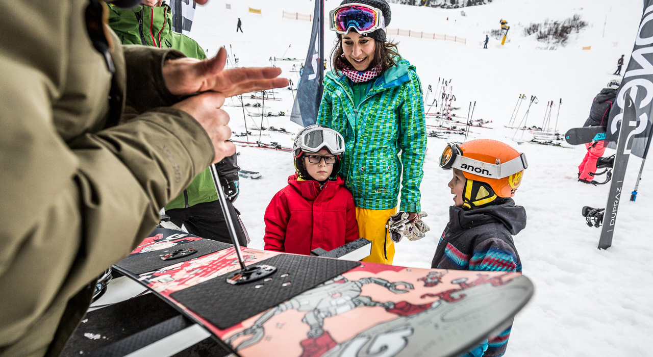Kostenloses Test-Material in der Eventarea |©Family Freestyle Weekend