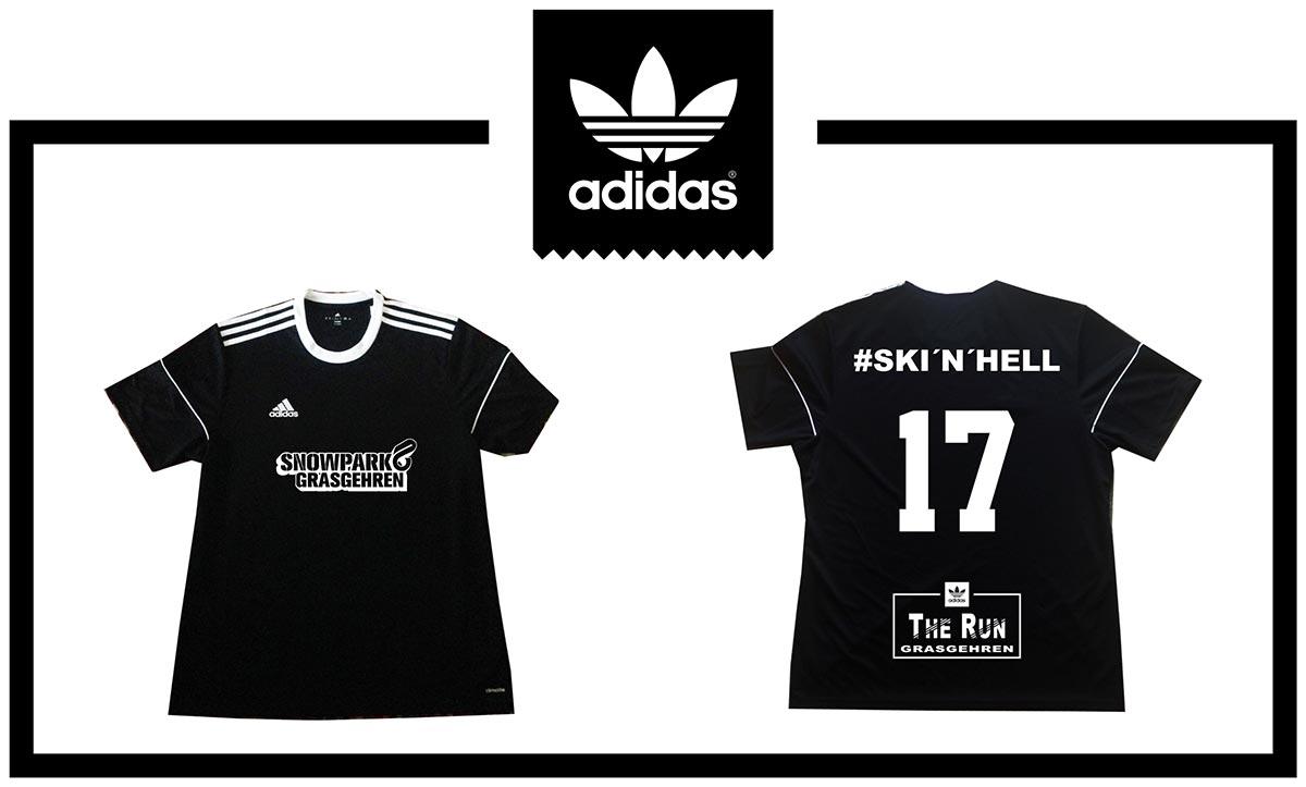 """Jeder Teilnehmer bei """"The Run"""" bekommt ein original adidas Jersey-Shirt mit seinem Wunschnamen geschenkt!"""
