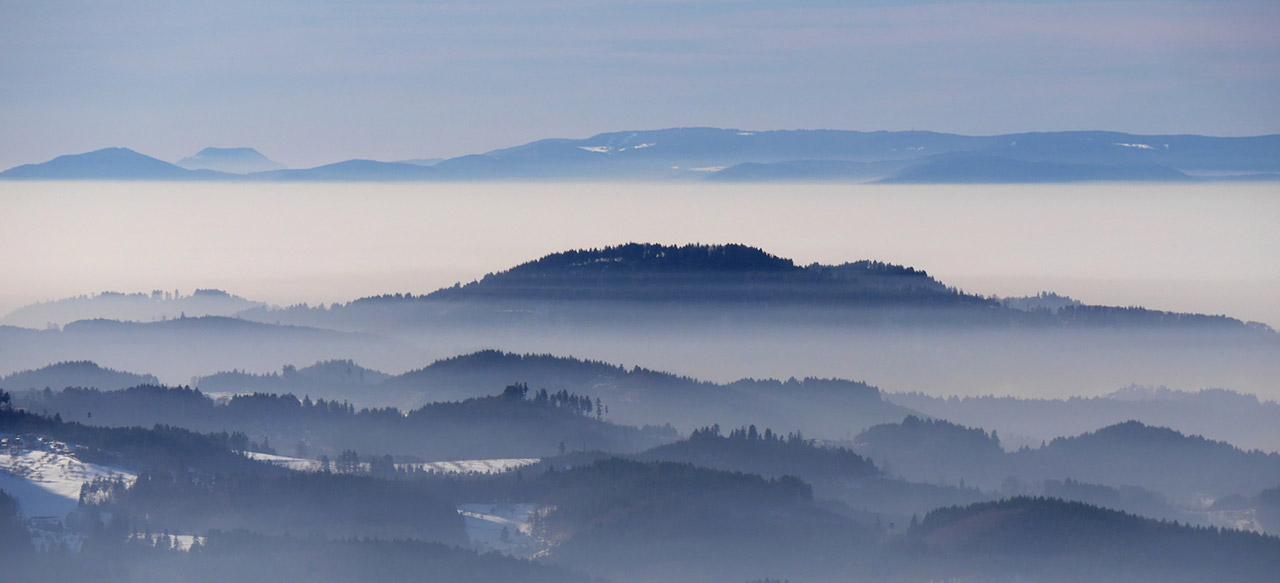 Die Berge des Schwarzwalds. So schön sehen sie fast nur in verklärten Rückblicken aus...