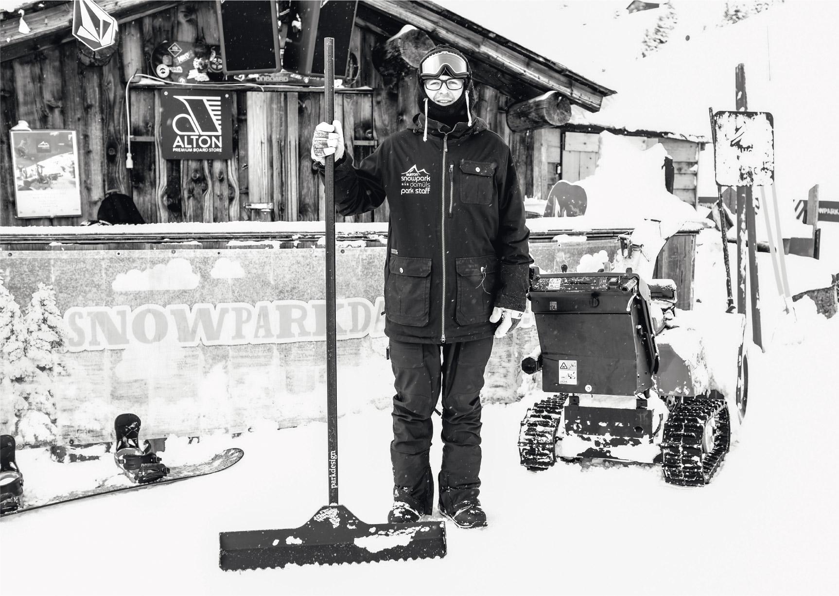Thomas Alton, wie ihr ihn die meiste Zeit im Winter antreffen könnt