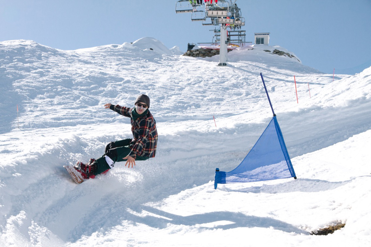 Elias war schnell, aber nicht schnell genug und musste sich mit dem 6. Platz begnügen | © Montafon Banked Slalom
