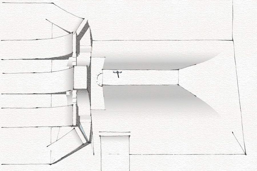Bevor die Pistenbullys anfangen können, werden die Features erst einmal von Nico von Hand entworfen | © Nine Knights