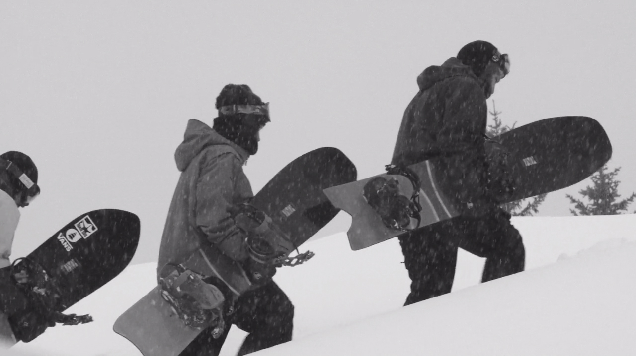 Bei diesen Bedingungen kommen die Powder-Surfer voll zum Einsatz