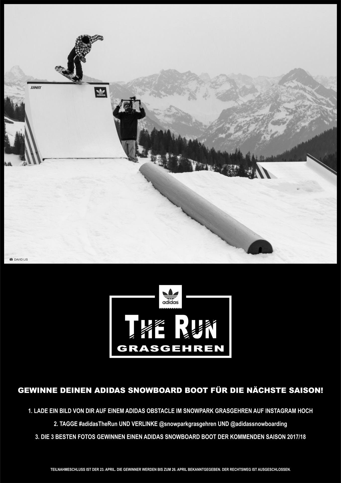 Insta-Photo-Competition Snowpark Grasgehren X adidas Snowboarding