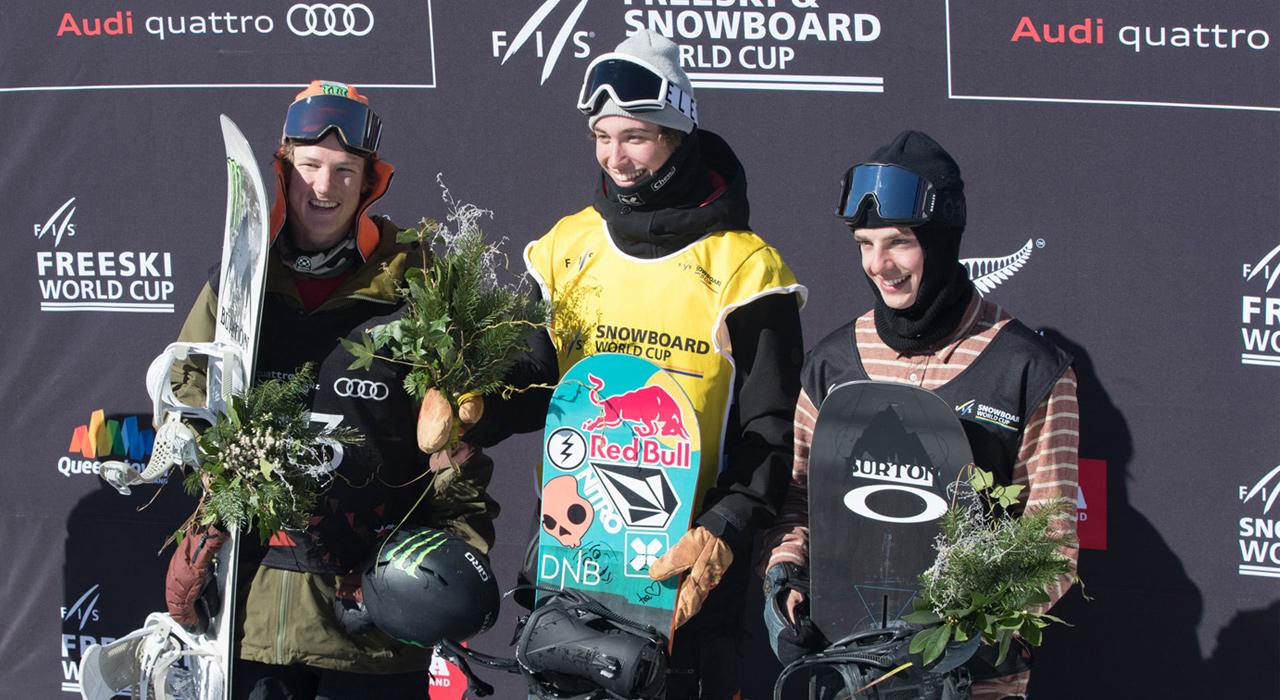 von links nach rechts: Darcy Sharpe, Marcus Kleveland, Carlos Garcia Knight | © Monster Energy