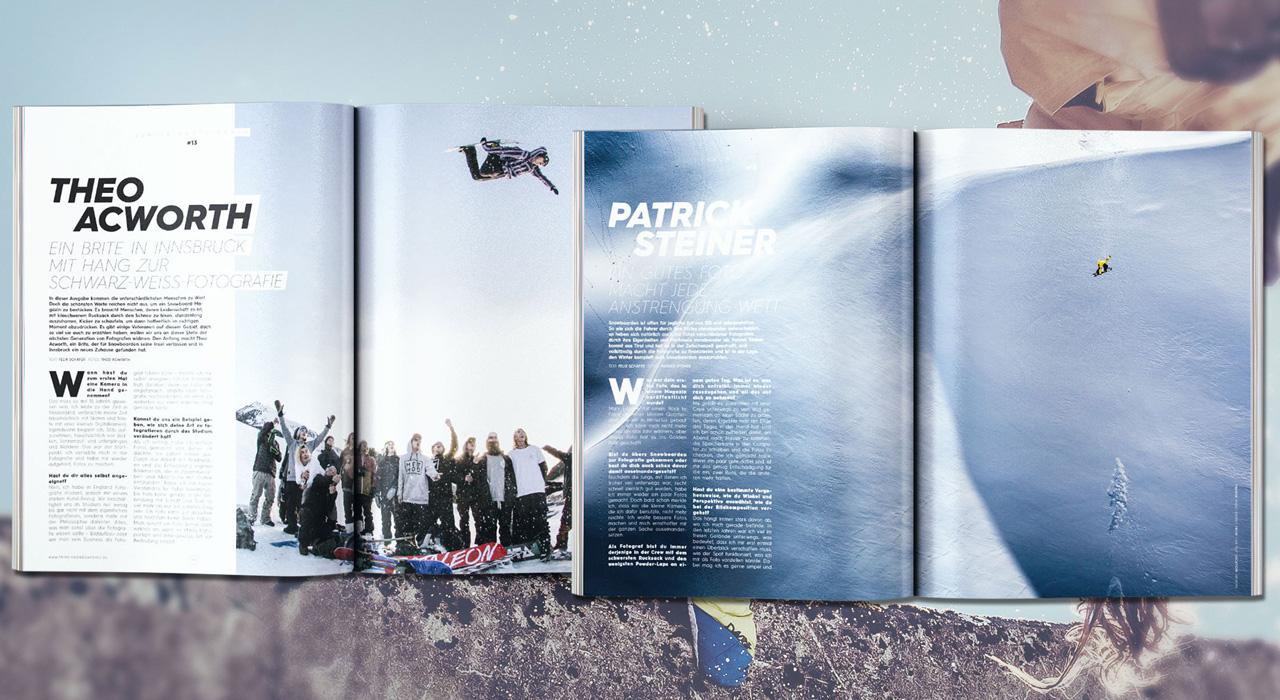 Theo Acworth und Patrick Steiner, zwei der aufstrebenden Snowboard-Fotografen