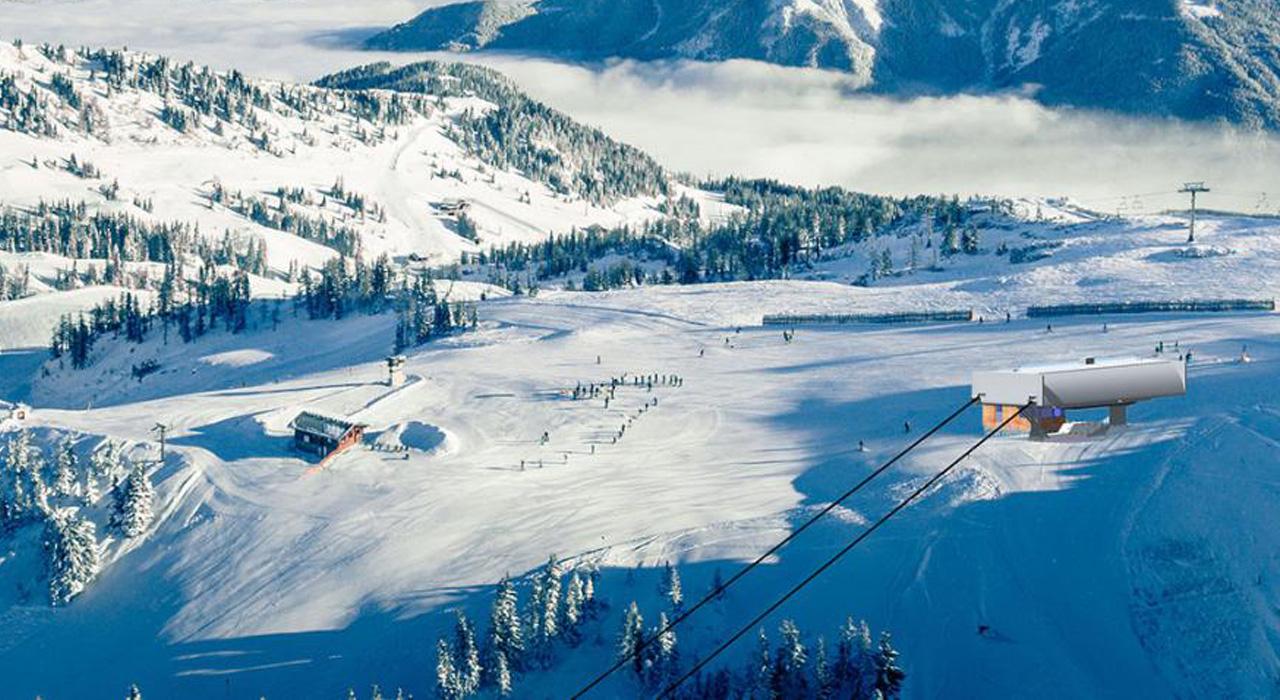 Die neue Bergstation des Lumberjack Shuttle | © Shuttleberg